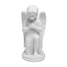 'Kneeling Angel' White Marble Figurine