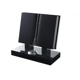 All Polished Black Granite Bible with Mounted Rests