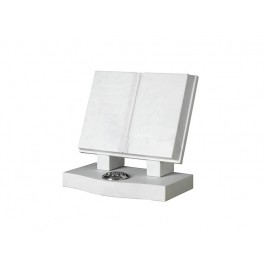 White Carrara Marble Bible with Mounted Rests
