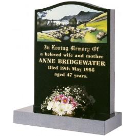 Part Polished Black Granite with Lakeland Bridge Design