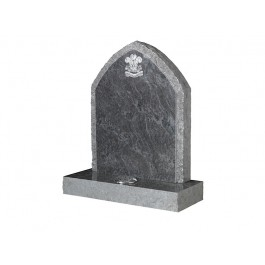 Part Pitched Bahama Blue Granite with Pitched Border & Blasted Army Badge Motif