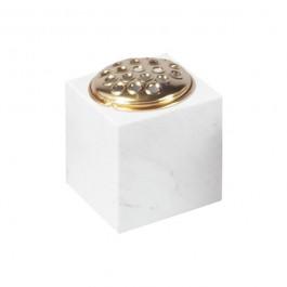 White Marble Cube Vase
