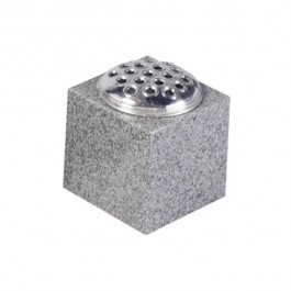 Light Grey Granite Cube Vase