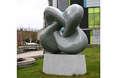 "Light grey granite sculpture - ""A mathematical equation"" Durham University (Part of the investment in Durham University's new library)"
