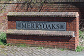 Area sign on outskirts of Durham City - Black granite, relief lettering